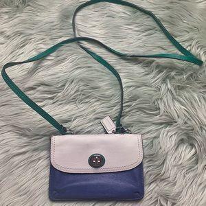 Coach Blue & White Mini Crossbody/Wallet